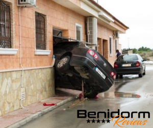 car crash into house by benidorm reviews
