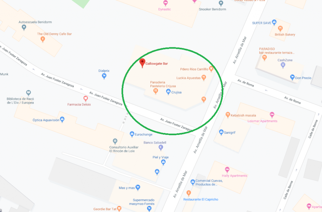 benidorm missing person map